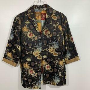 Chico's Silk Blend Japanese Style Jacket Size 0